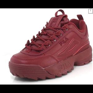 FILA Maroon Colored Autumn shoes